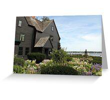 House of Seven Gables Garden 2 Greeting Card