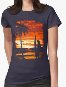Beach Surfer Babe Womens Fitted T-Shirt