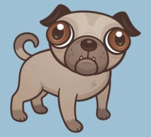 Pug Puppy Cartoon Kids Tee