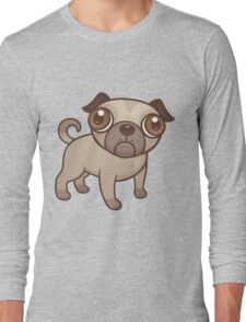 Pug Puppy Cartoon Long Sleeve T-Shirt