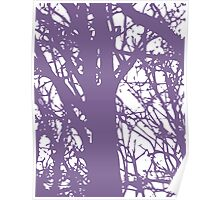 Purple Trees Poster