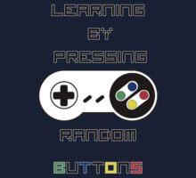 Learning by pressing random buttons . by Rhyfel
