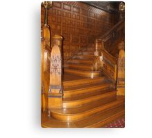 MANSION STAIRS Canvas Print