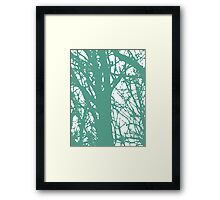 Blue and Green World Framed Print