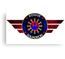 Rebel Alliance Rogue Squadron Logo Canvas Print