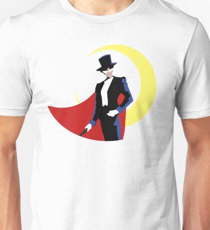 Tuxedo Mask on White Unisex T-Shirt
