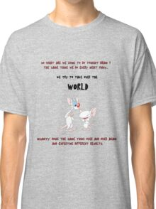 pinky and the brain insanity  Classic T-Shirt