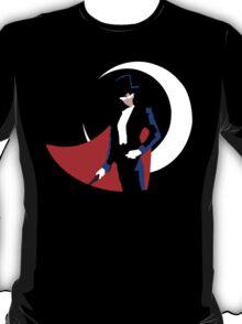 Tuxedo Mask on black T-Shirt