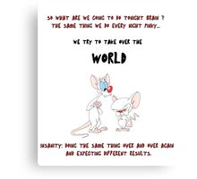 pinky and the brain insanity  Canvas Print