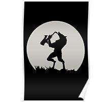Werewolf Sax Solo funny nerd geek geeky Poster