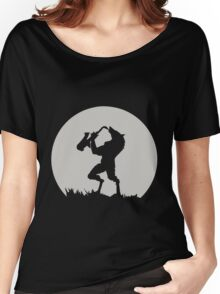 Werewolf Sax Solo funny nerd geek geeky Women's Relaxed Fit T-Shirt