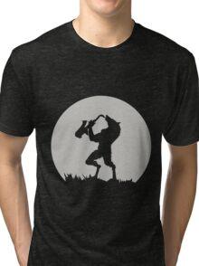 Werewolf Sax Solo funny nerd geek geeky Tri-blend T-Shirt