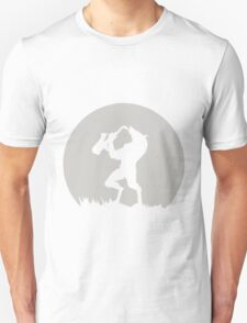 Werewolf Sax Solo funny nerd geek geeky T-Shirt