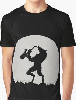 Werewolf Sax Solo funny nerd geek geeky Graphic T-Shirt