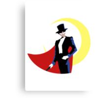 Tuxedo Mask on White Canvas Print
