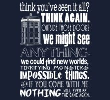Inspired by The Doctor - Best Doctor Quotes - Typography Design - Never Be the Same Again Quote by traciv