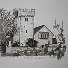 Pen and Ink-Llangathen Church-02 by Pat - Pat Bullen-Whatling Gallery