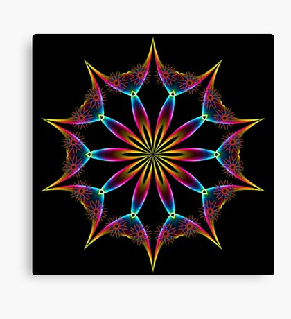Color Rainbow Wing Kaleidoscope 001 Canvas Print