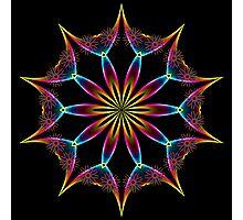 Color Rainbow Wing Kaleidoscope 001 Photographic Print