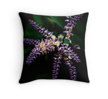 Purple Flora Throw Pillow