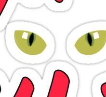 Cat's Rule Black T-Shirt Sticker - Cool Kitten Sticker