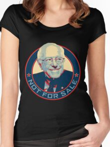 Bernie Sanders - Not For Sale Women's Fitted Scoop T-Shirt