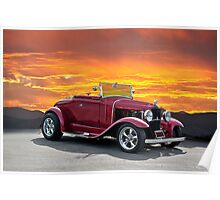 1930 Model A Ford Roadster Poster