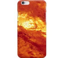 Red and White Hot Lava iPhone Case/Skin
