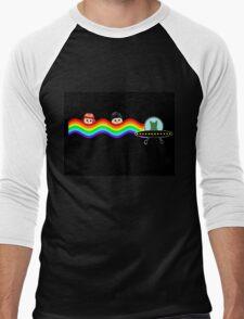 Mulder Scully Nyan Cat Men's Baseball ¾ T-Shirt