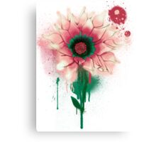 Splatter Flower Canvas Print