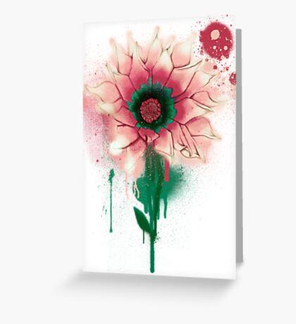 Splatter Flower Greeting Card
