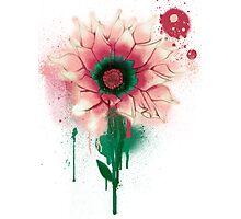 Splatter Flower Photographic Print