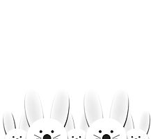 Spying Bunnies by Orce