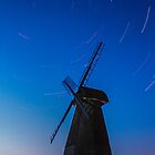 Rottingdean Windmill and Stars by Matthew Floyd