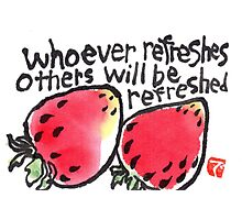 Be Refreshed (Strawberries) Photographic Print