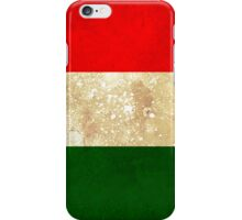 Italy Flag in Grunge iPhone Case/Skin