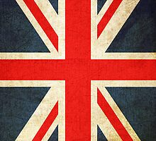 Great Britian Flag in Grunge by pjwuebker