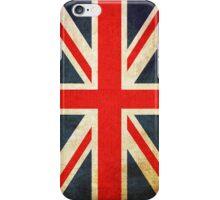 Great Britian Flag in Grunge iPhone Case/Skin