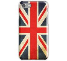 Great Britian Flag in Grunge iPhone Case/Skin