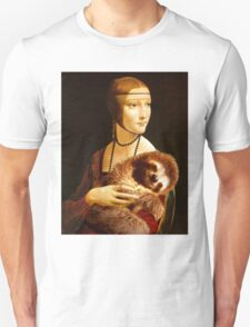 Lady with a Sloth Unisex T-Shirt