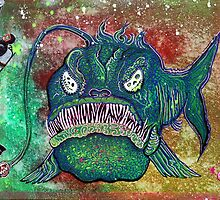 Angry Angler Andy by Laura Barbosa