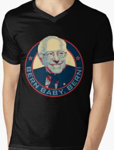 Bernie Sanders - Bern Baby, Bern! Mens V-Neck T-Shirt