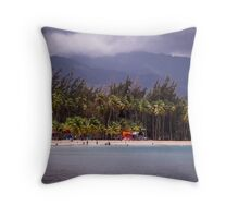 Montserrat Beach Puerto Rico Throw Pillow