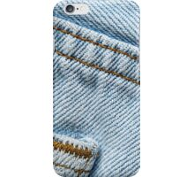 Faded Blue Jeans iPhone Case/Skin