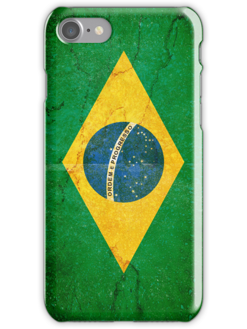 Brazil Flag in Grunge by pjwuebker