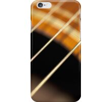 Accoustic Guitar Strings in Motion iPhone Case/Skin