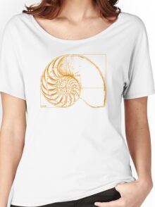 Fibonacci on a nautilus shell (orange) Women's Relaxed Fit T-Shirt