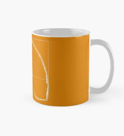 Fibonacci on a nautilus shell (orange) Mug