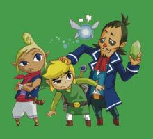 Link, Tetra (Zelda), Linebeck and Ciela by Hunter-Blaze