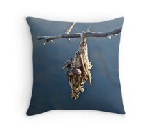 Mobile Home - Bagworm on Multiflora Rose Throw Pillow